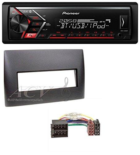 Pioneer MVH-S300BT MP3 Bluetooth AUX USB Autoradio für Fiat Stilo (192, 2001-2008)