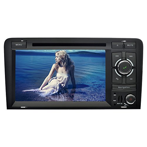 YINUO 7 Zoll 2 Din Touchscreen In Dash Autoradio Moniceiver DVD Player GPS Navigation mit kapazitivem Bildschirm 1080P OEM Stecker Canbus für Audi A3 (2003-2013)