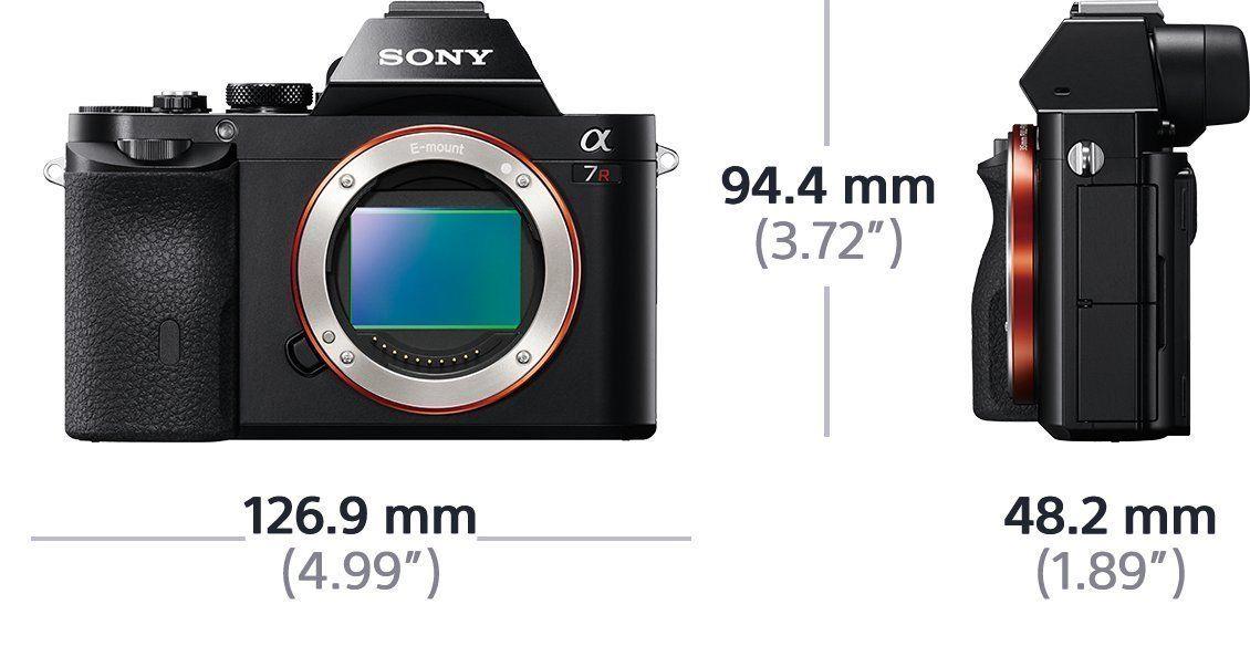 Sony Alpha7R, 36,4 Megapixel; 7,6 cm schwenkbares Displa;-35mm Vollformatsensor