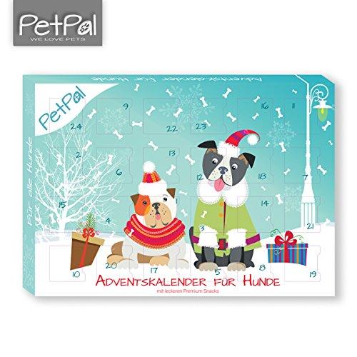 Hunde Adventskalender 2017 von PetPäl | DIE leckersten Snacks & Leckerli für deinen Hund zu Weihnachten | Gesunde Leckerlie zum Advent - Getreidefrei, Glutenfrei, Ohne Zucker, Ohne Künstliche Farb- & Aromastoffe | Hart Gebacken - Optimal für die Zahnpfleg