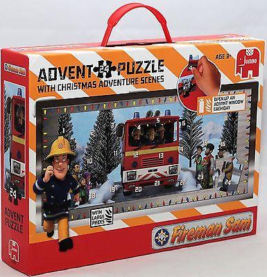 Jumbo 17336 Feuerwehrmann Sam Puzzle 24 Teilig Adventskalender NEU / OVP