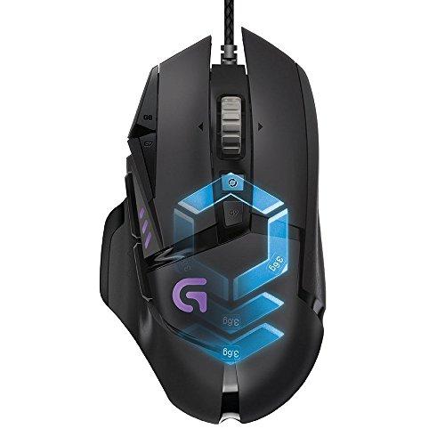 LogitechG502 Gaming-Maus ProteusSpectrum (mit RBG-Anpassung und 11programmierbaren Tasten)