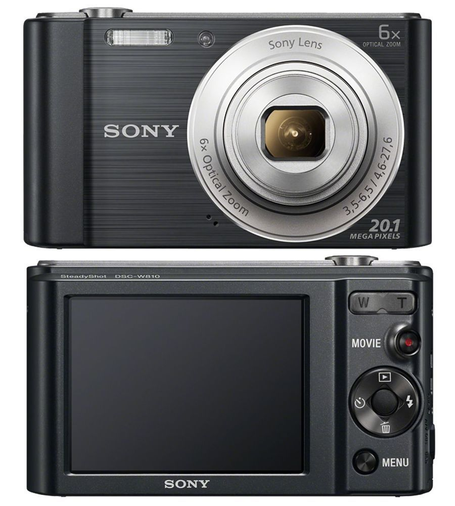 SONY CYBER-SHOT DSC-W810 20.1 MP DIGITAL CAMERA 6X OPTICAL ZOOM - BLACK