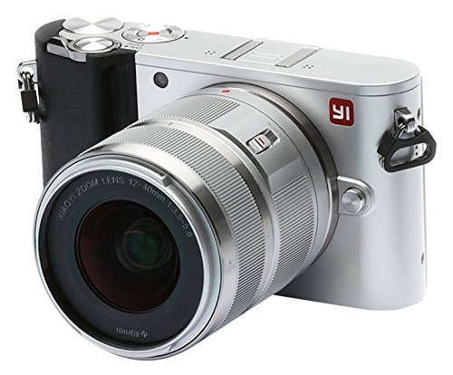 YI Technology M1 95018 Mirrorless Digitalkamera (20 MP, Wechselobjektiv 12-40mm, F3,5-5,6 Objektiv) silber