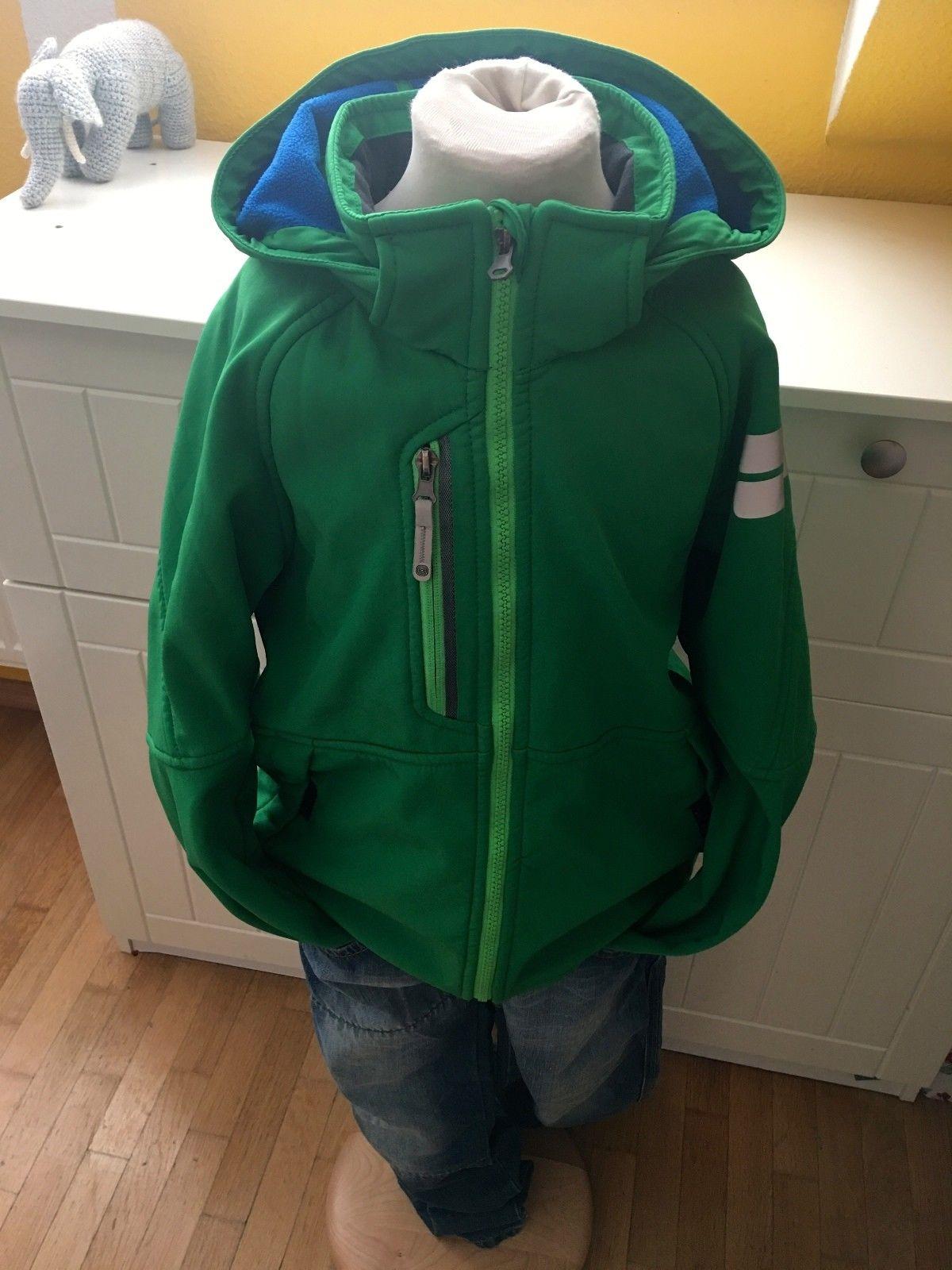H&M Softhellsjacke Jacke grün Gr. 134 rare wneu