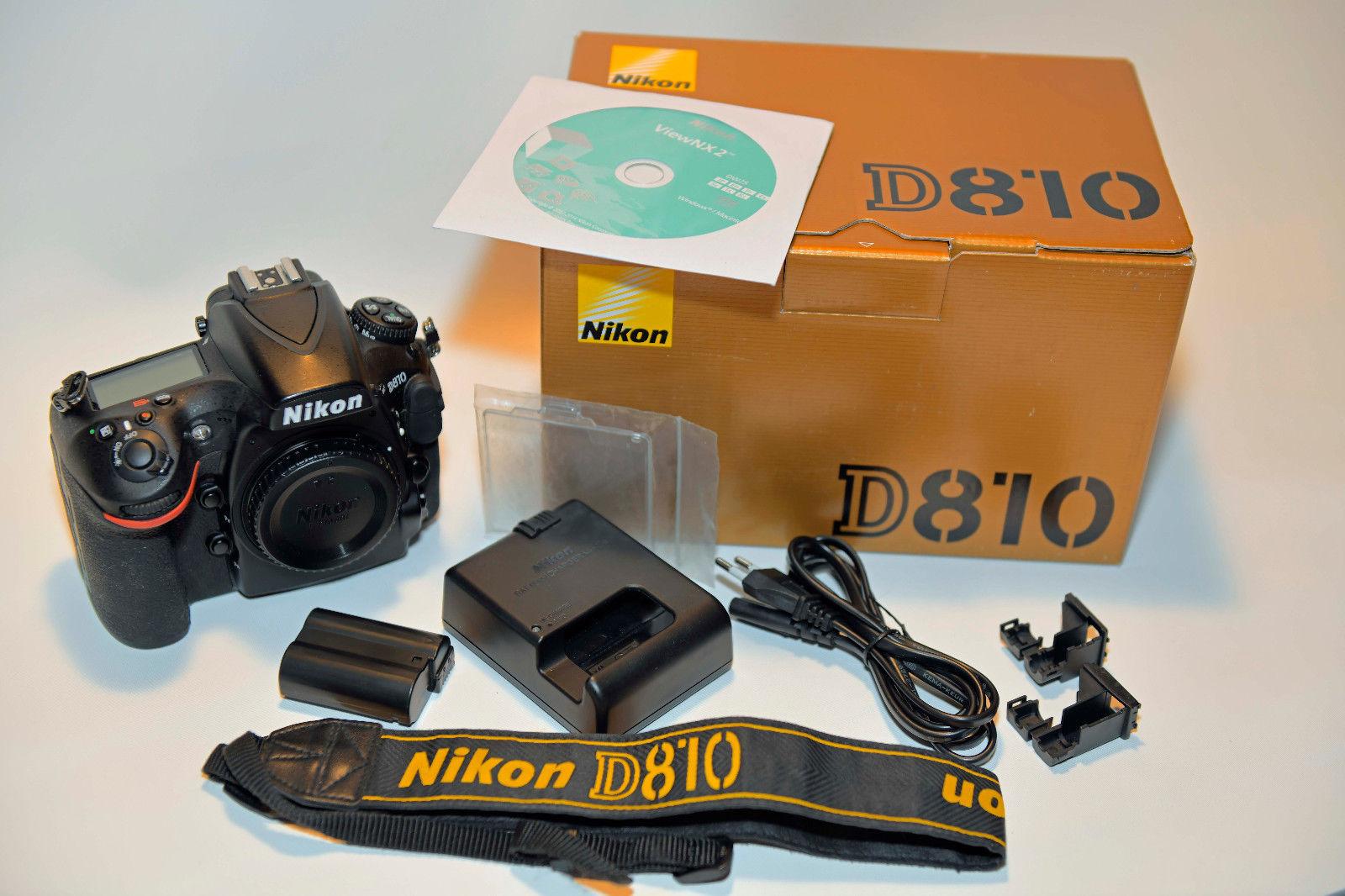 Nikon D810 36.3MP Digitalkamera, nur Gehäuse in OVP weniger als 6700 Auslösungen