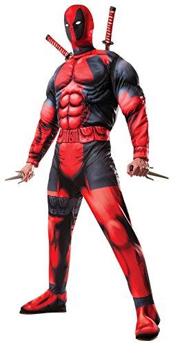 Rubies Offizielles Marvel Deadpool Deluxe Kostüm für Erwachsene –Größe: XL