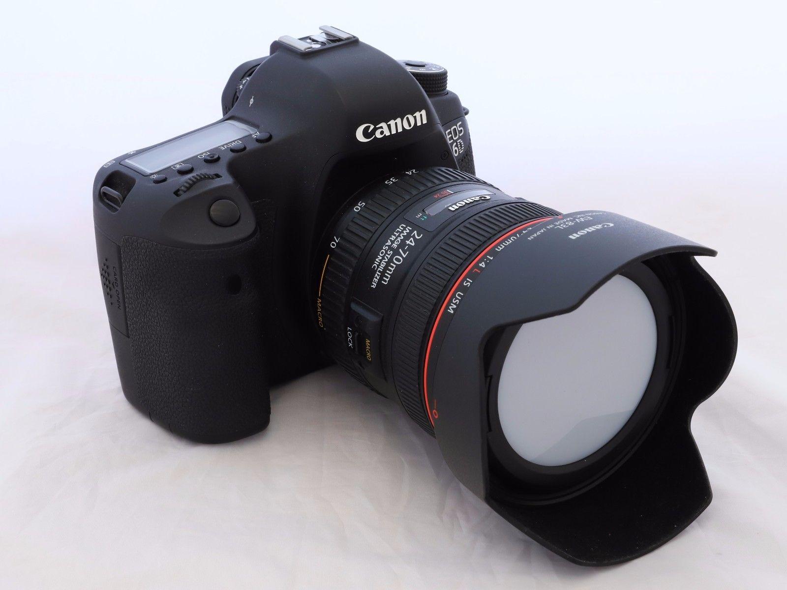 Canon EOS 6D 20.2 MP SLR-Digitalkamera + EF 24 - 70 f/4 L IS USM