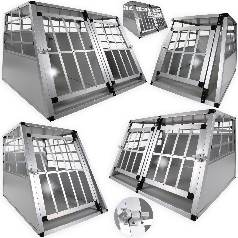 LovPet® Hundebox Transportbox Alubox Hundetransportbox Gitterbox Reisebox ALU