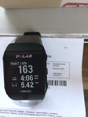 Polar V800 Smartwatch GPS Laufuhr Bluetooth schwarz Neu aus Rep (Austausch) + H7