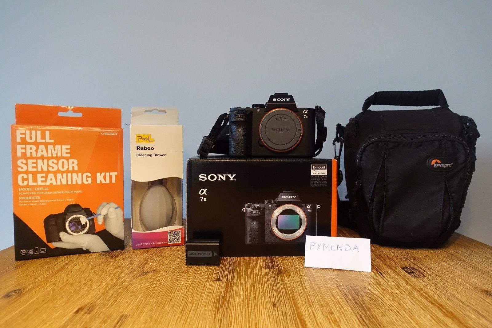 Sony Alpha 7 II Mark 2 (ILCE-7M2) 24.3 MP Digitalkamera - Schwarz (Nur Gehäuse)
