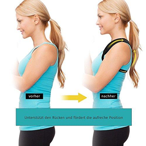 BakkuHira - Geradehalter zur Haltungskorrektur gegen Rückenschmerzen, Schulterschmerzen und Nackenschmerzen. Haltungsbandage, Rückenbandage, Rückenstütze für Männer und Frauen