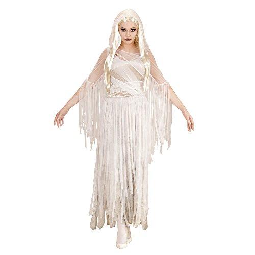 Widmann 04053 - Erwachsenenkostüm Geister Lady, Kleid, L, weiß, Größe L, weiß
