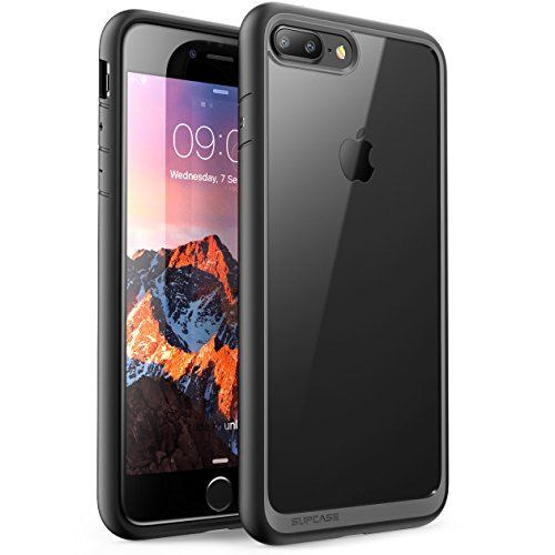 iPhone 8 Plus Hülle, SUPCASE [Unicorn Beetle Style] Schutzhülle Premium Case Cover Hybrid Transparent Handyhülle (Kompatibel mit Apple iPhone 7 Plus / iPhone 8 Plus) (Schwarz)
