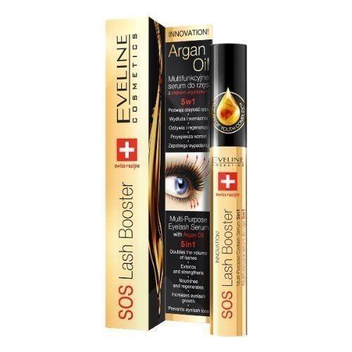 Eveline Cosmetics SOS Wimpernserum 5 in 1 mit Arganöl 10ml Eyelash Booster TOP