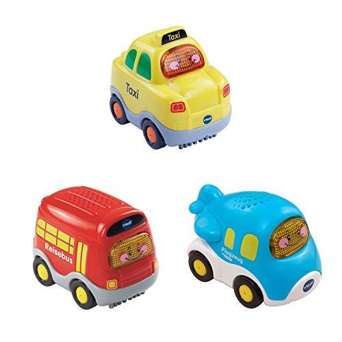 VTech Baby 80-205834 - Tut Tut Flitzer Fahrzeuge - Set 8: Taxi, Flugzeug, Reisebus (3er Set)