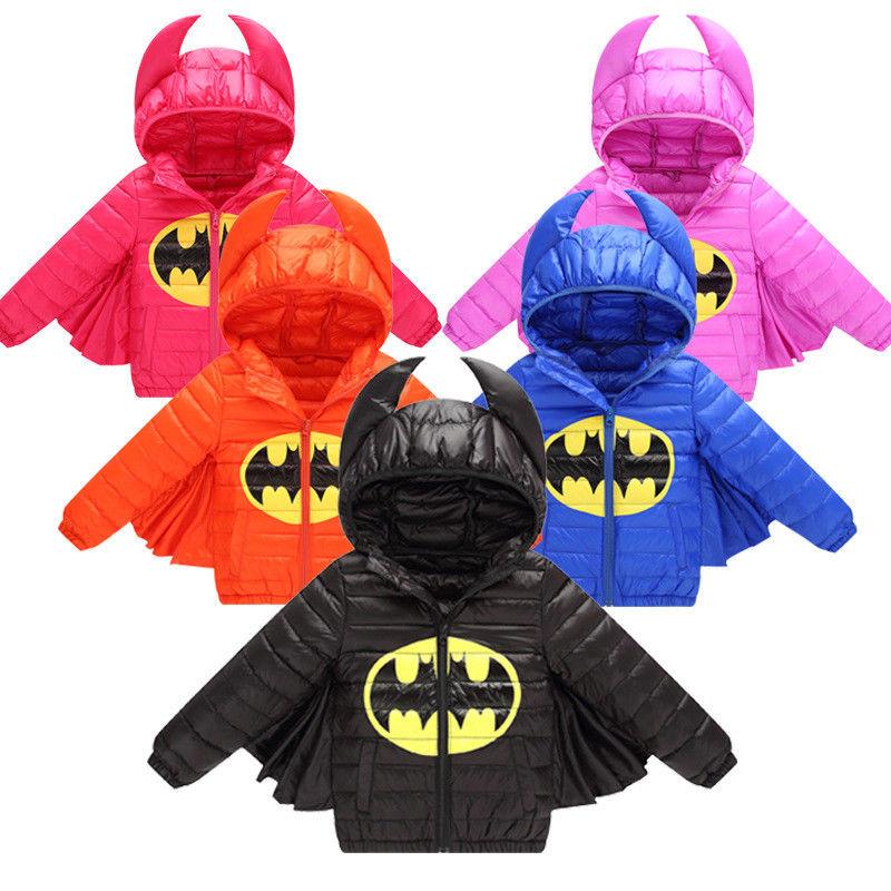 Unisex Kinder Daunenjacke Jacke kind SteppJacke baby Batman winterjacke