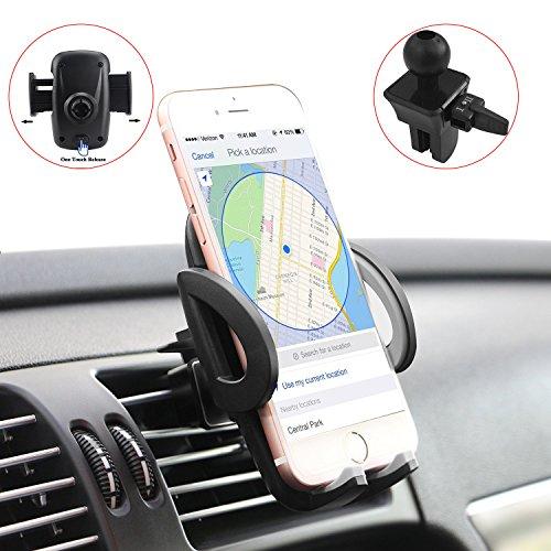 Handyhalterung Auto, Degbit Universale KFZ Handy Halterung Halter 360 Grad Handyhalter KFZ Lüftung Belüftung Handy Autohalterung, KFZ Lüftungsschlitz-Halterung für iPhone, Samsung, Huawei, LG und mehr