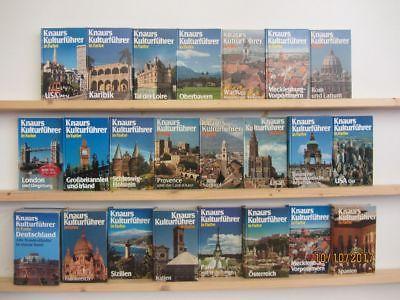Knaurs Kulturführer in Farbe 23 Bücher Reiseführer national und international