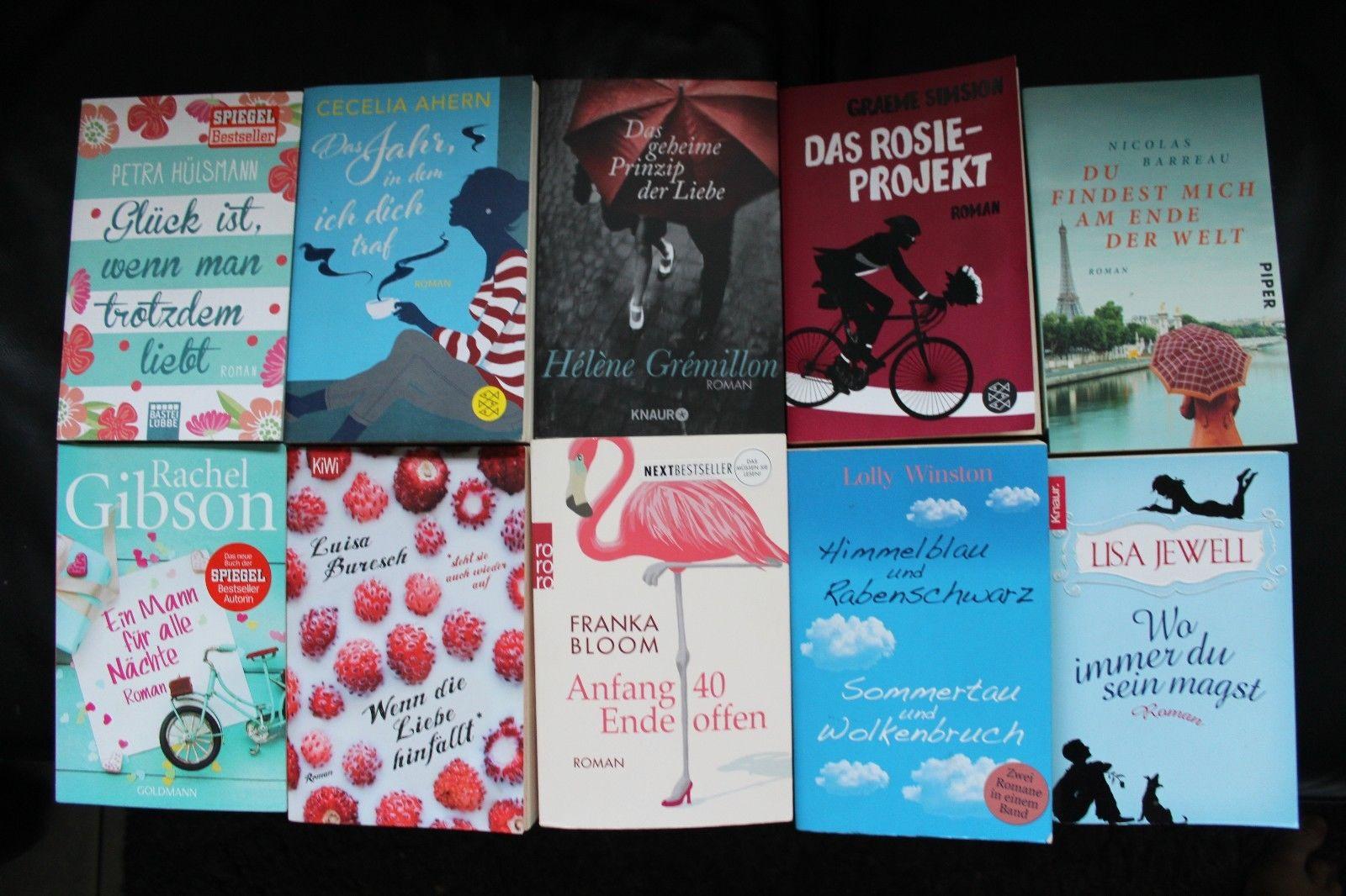 Frauenromane - Bücherpaket 10 Stück -  teils ganz aktuell und neuwertig