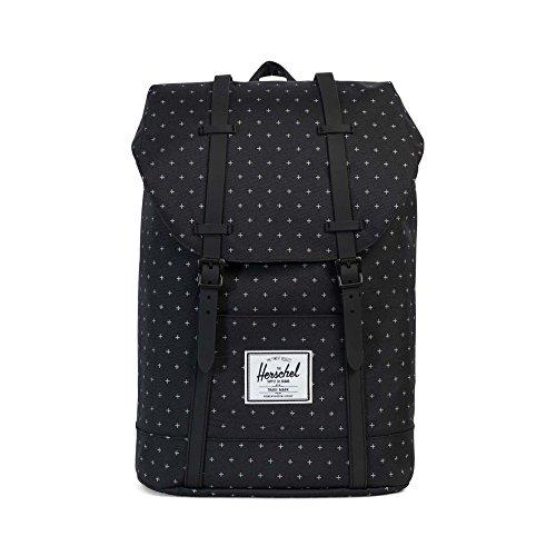 Herschel Retreat Backpack Rucksack 43 cm, black gridlock/black rubber