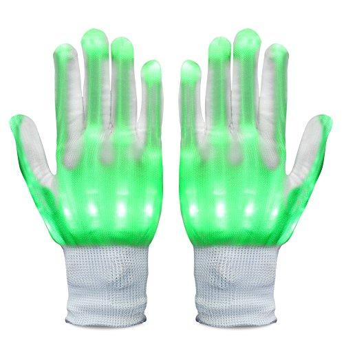 Vbiger LED Handschuhe RGB LED Beleuchtung Handschuhe Licht Handschuhe für Unisex Weihnachten Party