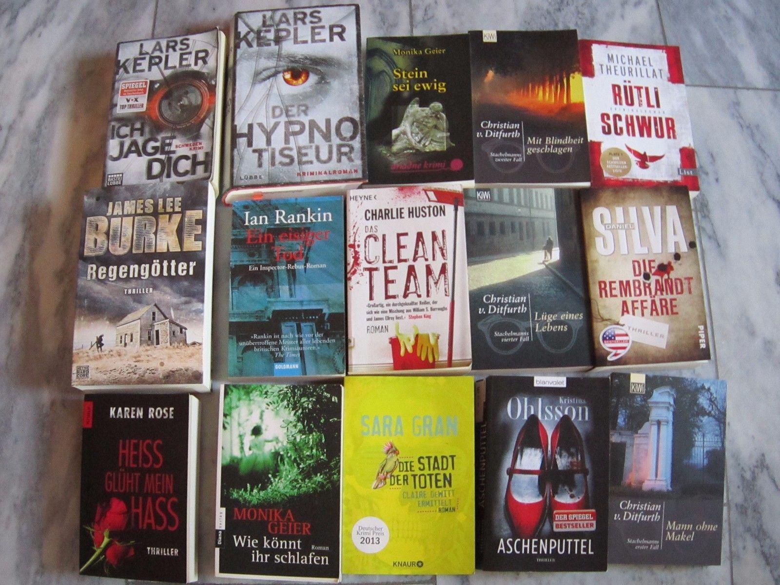 Buchpaket Bücherpaket Krimi Krimis, Thriller, Romane 14 Krimis