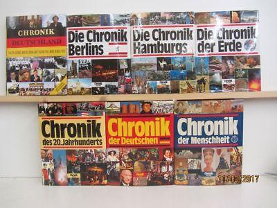 7 Bücher Die Chronik Chronikverlag Berlin Hamburg Erde Deutschen Menschheit u.a.