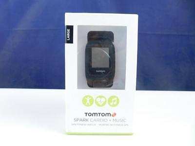 TomTom Spark Cardio + Musik GPS-Fitnessuhr schwarz, Größe L Tracker