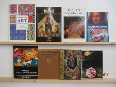 20 Bücher Bildbände Maler Malerei Künstler Gemälde Raffael Impressionismus  u.a.