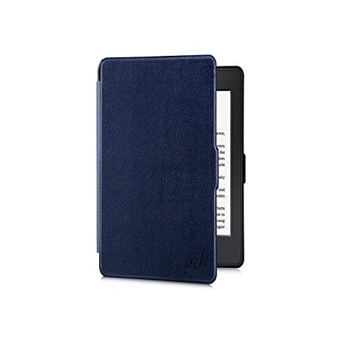 Tolino Vision 1 / 2 / 3 / 4 HD Hülle - eReader Slim Case Schutzhülle Tasche Etui mit Ruhemodus u. Magnetverschluss von u&h, in Blau (Navy)