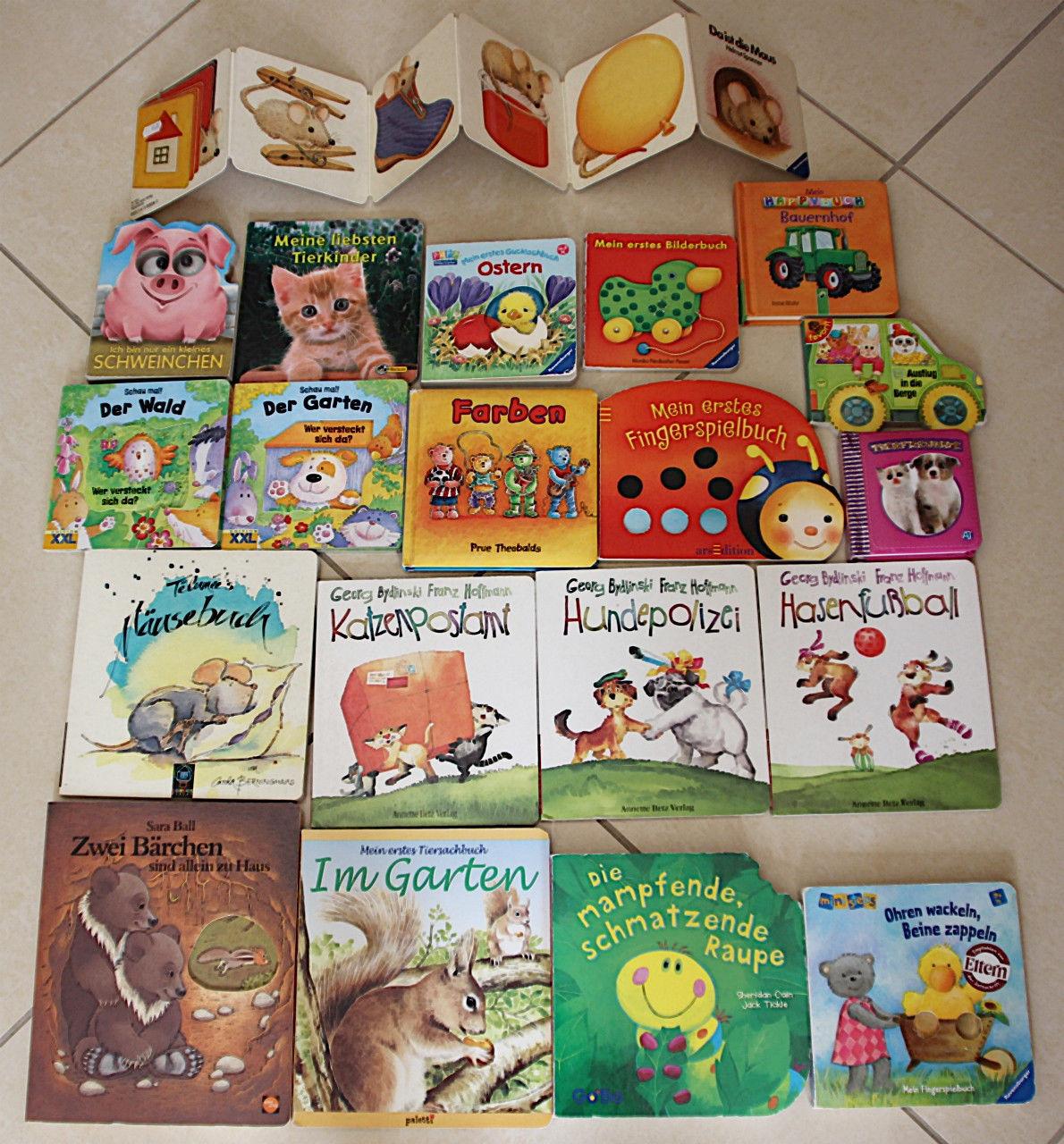 20 TEILE!!! Bücherpaket f. Babys/Kleinkinder Bilderbücher Pappbücher