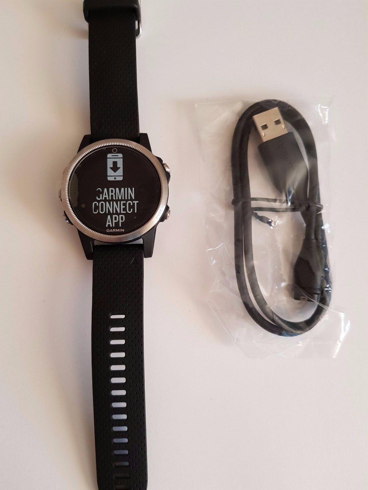 GARMIN FENIX 5S GPS Multisport Uhr Smartwatch Pulsmessung Edelstahl Silber/Black