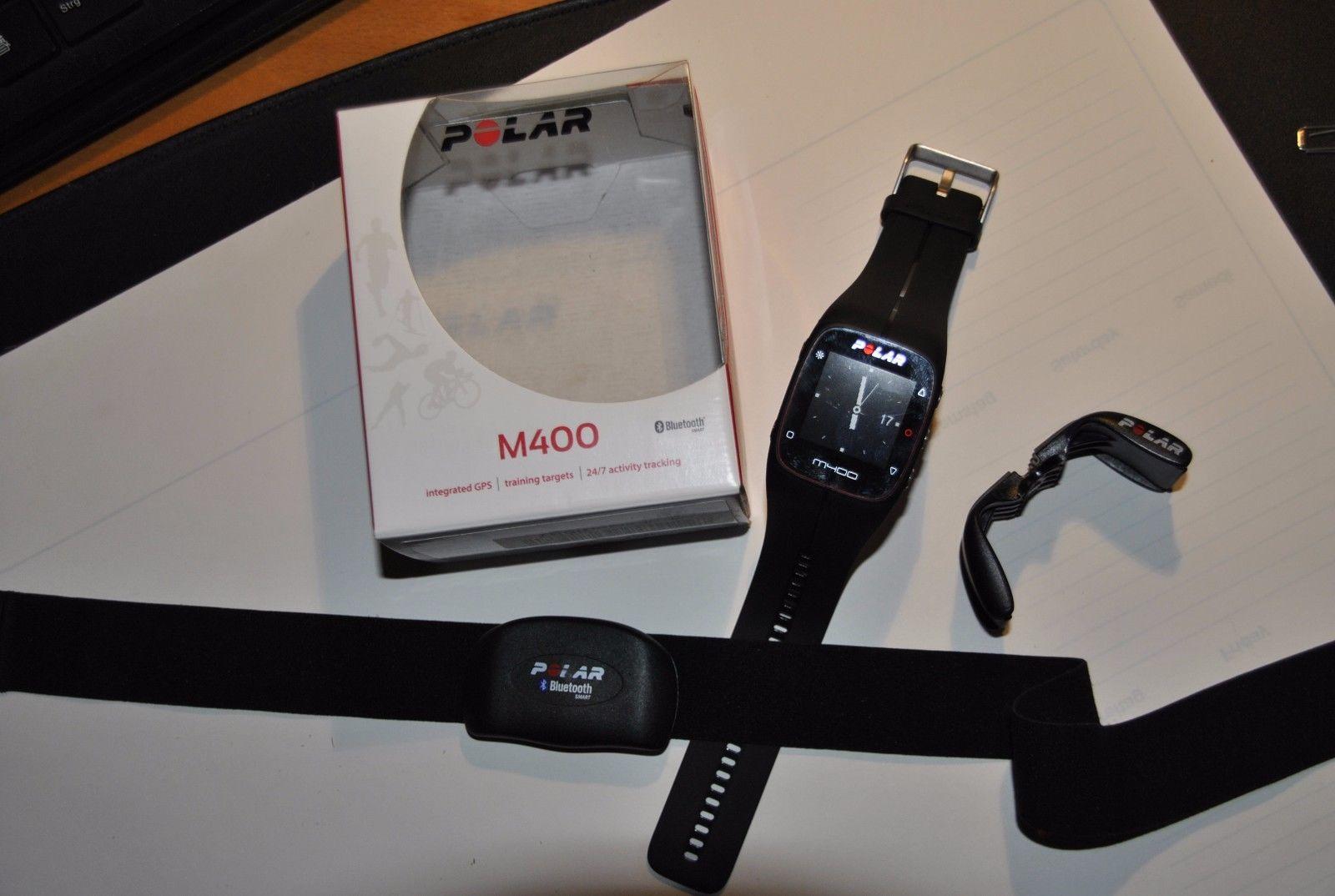 POLAR M400 GPS-Laufuhr Sportuhr Schwarz mit Brustgurt, gebraucht, in  OVP***