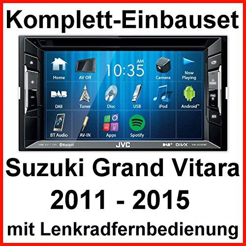 Komplett-Set Suzuki Grand Vitara JT JVC KW-V235DBT Bluetooth DAB USB MP3 CD AUX Autoradio inkl. DAB Antenne Moniceiver 2-DIN Android iPhone