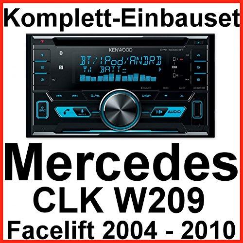 Komplett-Set Mercedes CLK W209 Facelift Kenwood DPX-5000BT Autoradio mit Bluetooth Freisprecheinrichtung CD USB MP3 AUX In