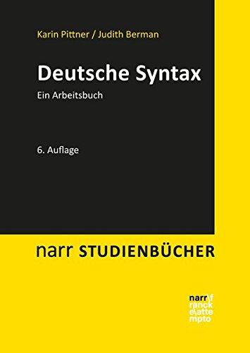 Deutsche Syntax: Ein Arbeitsbuch (Narr Studienbücher)