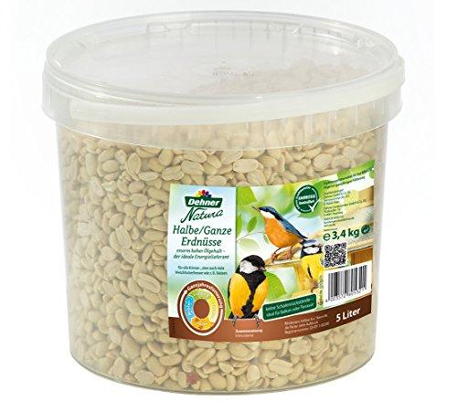 Dehner Natura Wildvogelfutter, halbe/ganze Erdnusskerne, 5 l (3.4 kg)