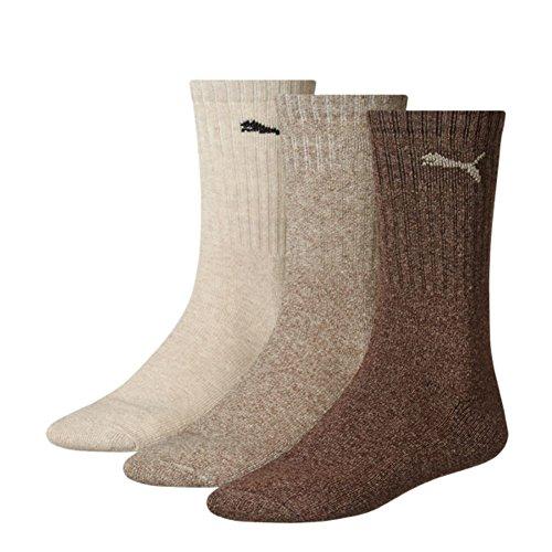 PUMA Unisex Crew Socks Socken Sportsocken MIT FROTTEESOHLE 18er Pack (47-49, Chocolat (717))