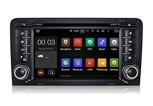 Android 5.1 für Audi A3 inkl. DAB+ Touchscreen Autoradio DVD Player MP3 MPE4 USB SD 3D Navigation GPS TV iPod USB Bluetooth