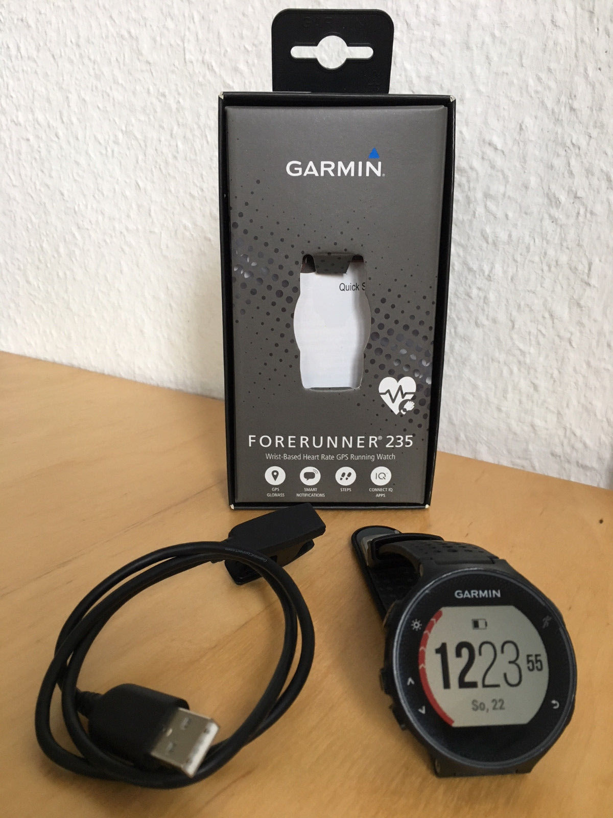 Garmin Forerunner 235 WHR Laufuhr - Herzfrequenzmessung am Handgelenk