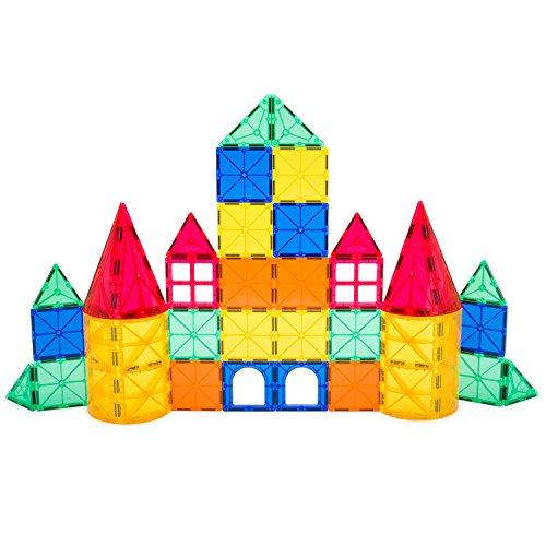 Playbees Magnetische Bausteine Spielzeug für Kleinkinder, Magnet Bauklötze Spielzug mit Lebhaften Klaren Farben für 2D und 3D Konstruktionen, Magnetspielzeug, 36 Teile
