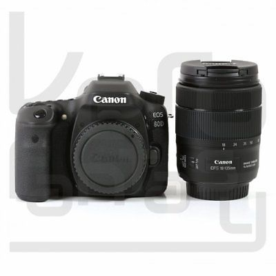 Neu Canon EOS 80D Digital SLR Camera + 18-135mm f/3.5-5.6 IS USM Lens