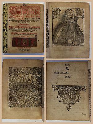 Konstitutionen Gesetzbuch Kurfürst August Sachsen Holzschnitte illustriert 1583