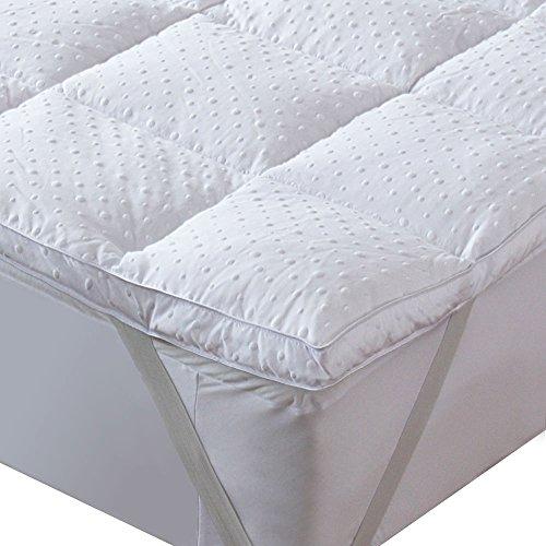 Bedecor Mikrofaser Matratzenauflage Unterbett, Matratzen-Topper, Anti-Rutsch, üppig gefüllt, extra-weich, 140 x 200 cm