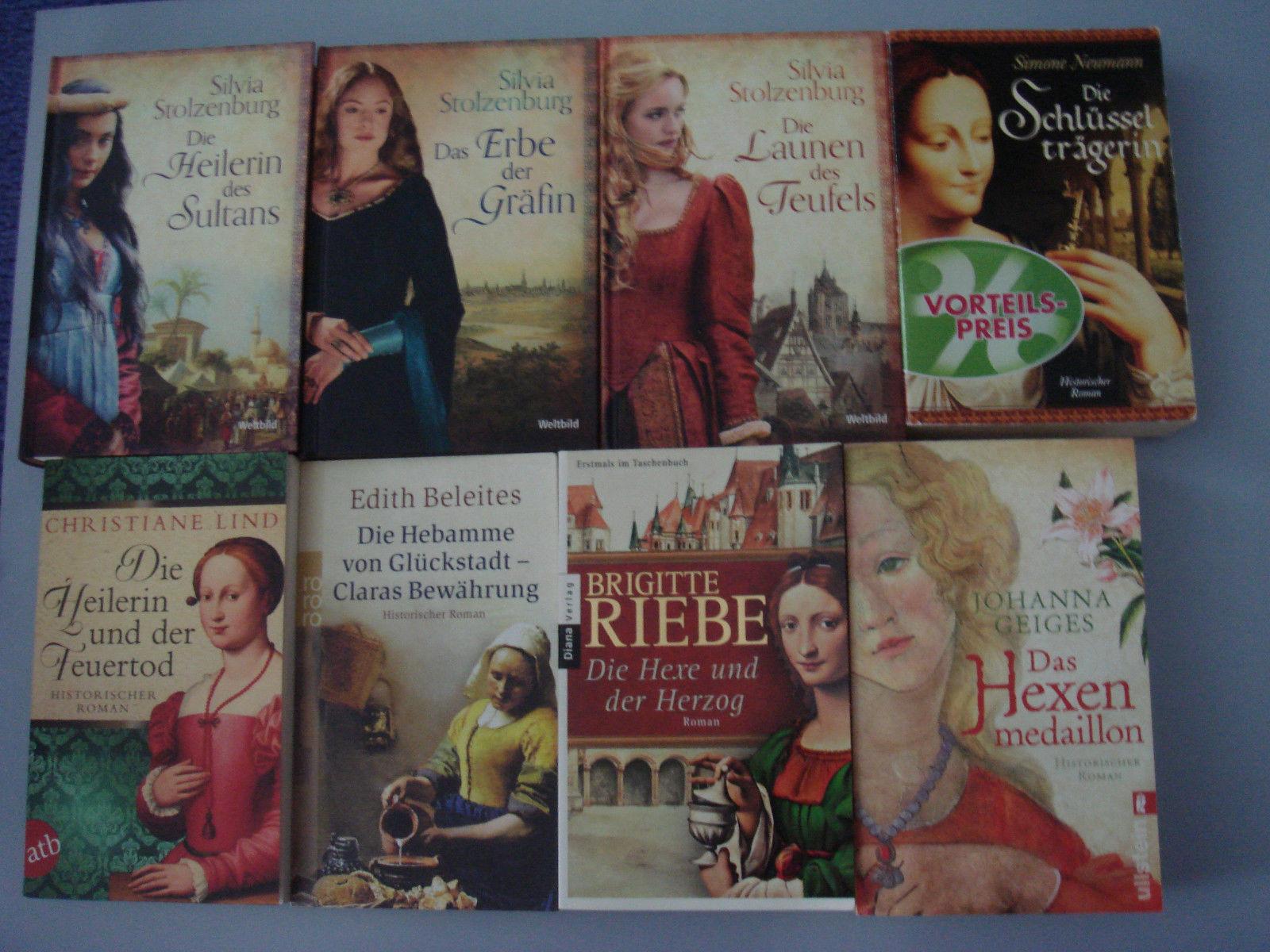 8 x Historische Romane Bücherpaket -Taschenbücher Riebe-Neumann-Stolzenburg usw.