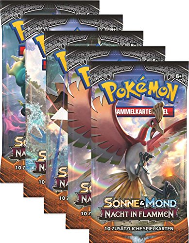 Sonne und Mond Serie 3 - Nacht in Flammen - Display, Booster - Deutsch (1 Booster)