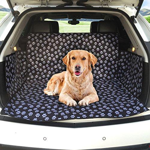 MATCC Kofferraumschutz Hunde Auto Hundedecke Wasserdicht Hunde Schutzdecke Auto Hundedecke Kofferraum Schutzdecke Auto Hund Kofferraumdecke Mit Seitenschutz Auto Kofferraumschutzdecke (104*155*33cm)