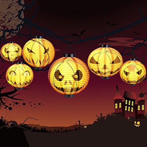 LEDMOMO Halloween Kürbis LED Kürbislaterne für Halloween Kinderparty