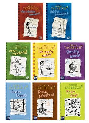 Gregs Tagebuch Buchpaket (8 Bücher) - Band 1, 2, 3, 4, 5, 6, 7, 8 (Portofrei)